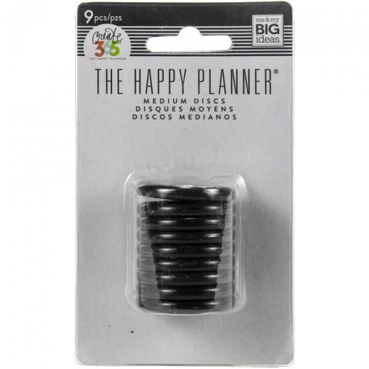 The Happy Planner - Medium Discs 9 pcs. black