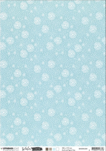 Studio Light Basic Hinergrundpapier A4 Winter Joys Nr. 304
