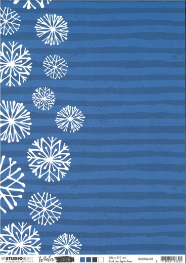 Studio Light Basic Hintergrundpapier A4 Winter Joys Nr. 305