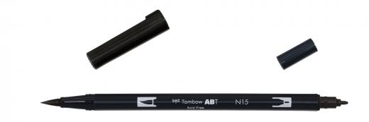 Tombow ABT Dual Brush Pen - black