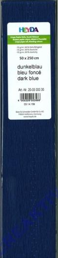 Heyda Krepp 50x250cm dunkelblau