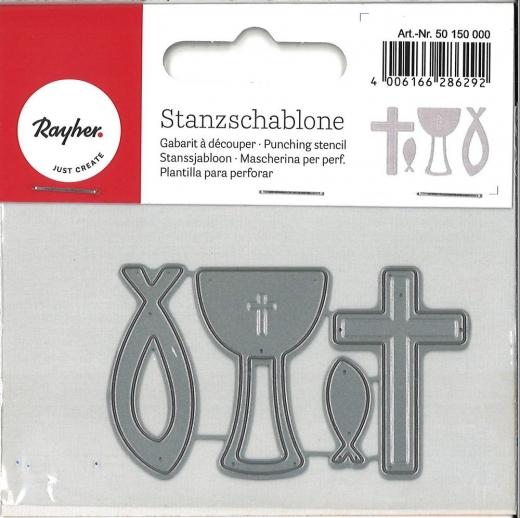 Stanzschablonen-Set Konfirmation / Kommunion