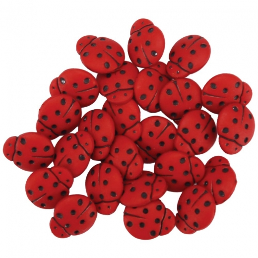 Dresse it up Deko-Knöpfe - Tiny Ladybugs