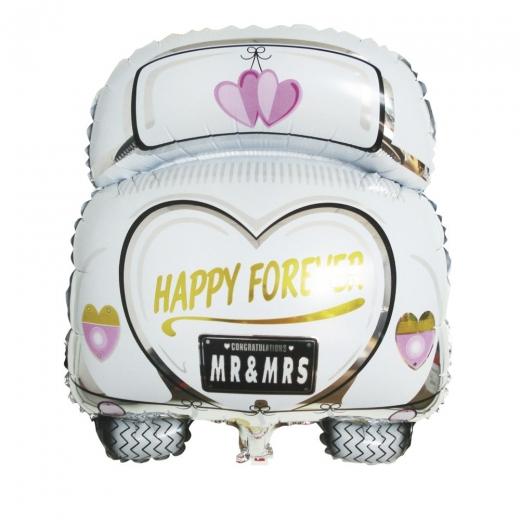 Folienballon Hochzeitsauto 49cm x 63cm