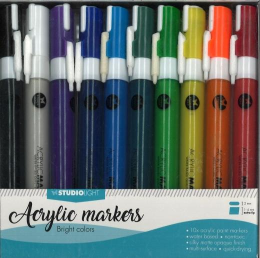 StudioLight Acrylic Markers - bright colors