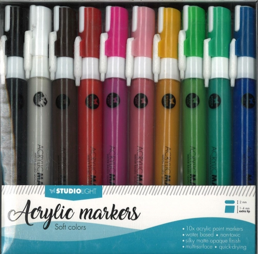 StudioLight Acrylic Markers - soft colors