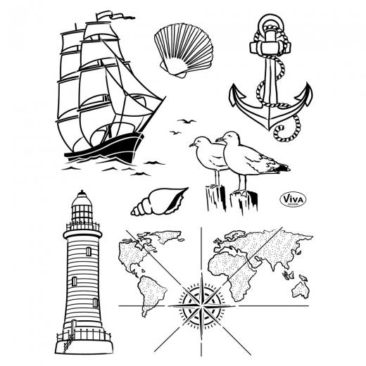 Silikon-Stempel Seefahrt