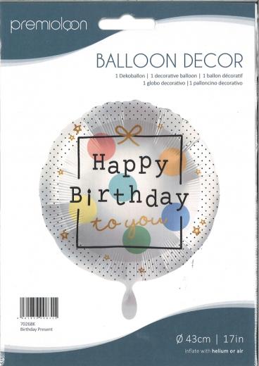 Folienballon Birthday Present