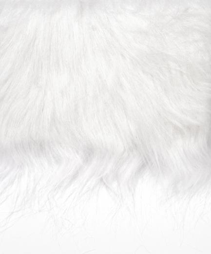 Langhaarplüsch 20x35cm weiß