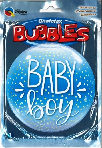 Bubbleballon Baby Boy Confetti Dots