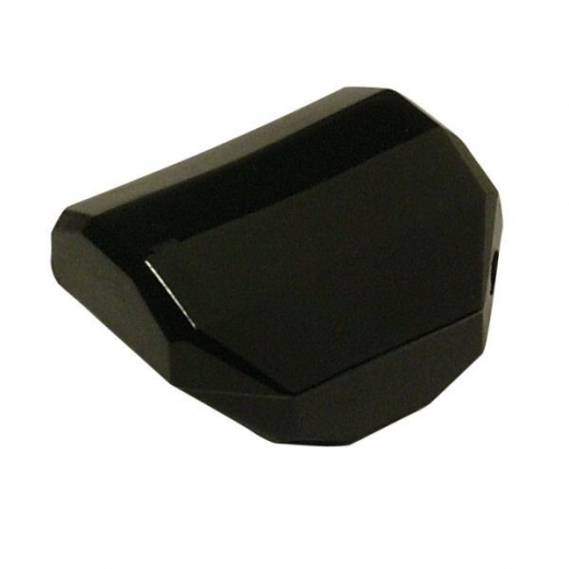 Acryl Schmuck Quadrat facettiert 20x20mm schwarz