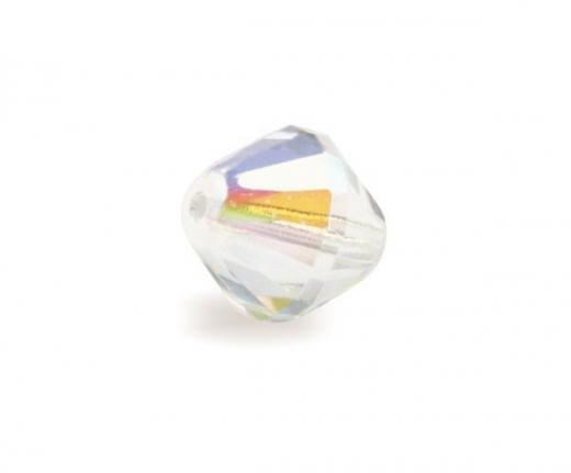 Glas-Facetten-Doppelkegel 14mm bergkristall