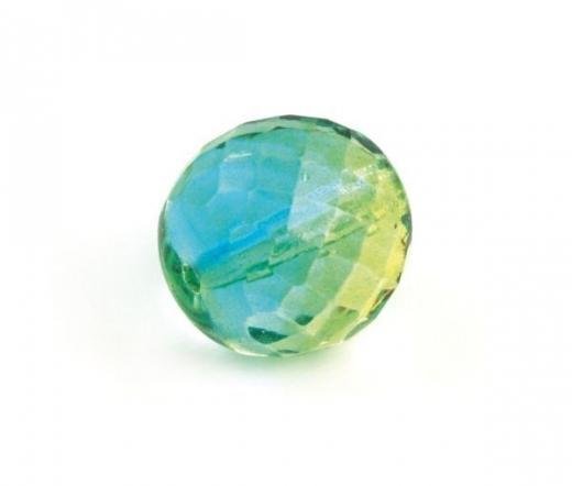 Glas-Facetten-Kugel 20mm immergrün