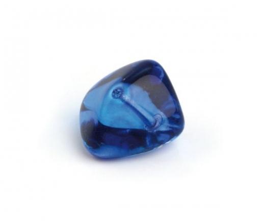 Glas-Nugget 14x19mm azurblau