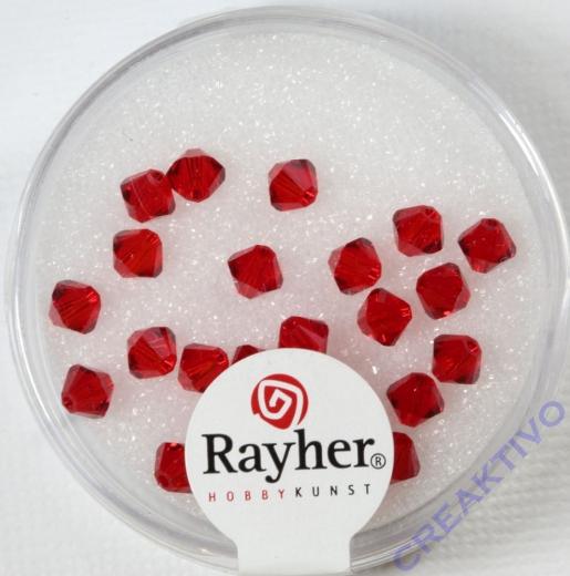 Swarovski Kristall-Schliffperlen 4mm 25St klassikrot (Restbestand)