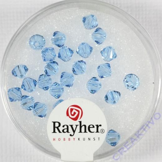 Swarovski Kristall-Schliffperlen 4mm 25St aquamarin (Restbestand)