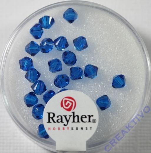 Swarovski Kristall-Schliffperlen 4mm 25St nachtblau (Restbestand)