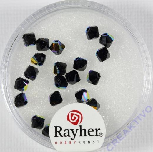 Swarovski Kristall-Schliffperlen 4mm 25St obsidian (Restbestand)