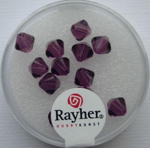 Swarovski Kristall-Schliffperlen 6mm 12St amethyst (Restbestand)