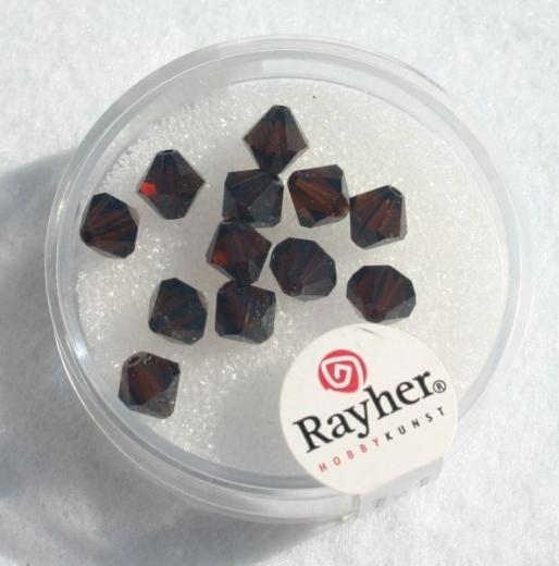 Swarovski Kristall-Schliffperlen 6mm 12St mokka (Restbestand)