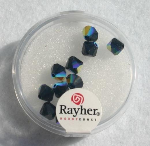 Swarovski Kristall-Schliffperlen 6mm 12St obsidian (Restbestand)