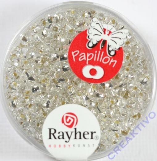 Papillon Rocailles 2x4 mm bergkristall