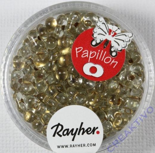 Papillon Rocailles 3,2x6,5mm brill.gold