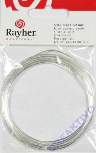 Silberdraht mit Kupferkern 1,2mm 3m