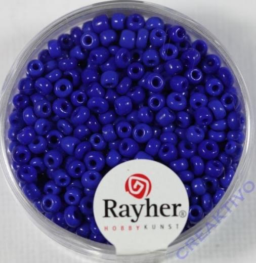 Rocailles 2,6mm ø opak dunkelblau