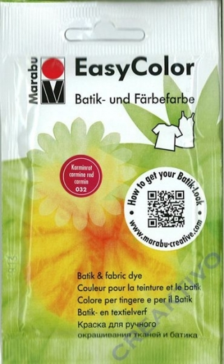 Easy Color Batik- und Färbefarbe 25g karminrot