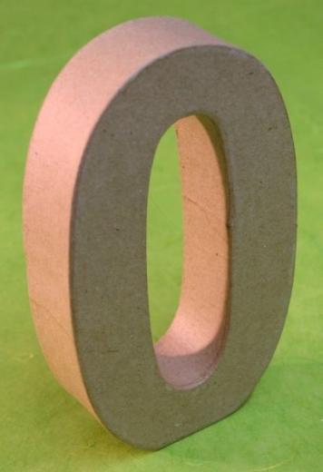 Rayher Pappmaché Buchstabe O - 15cm