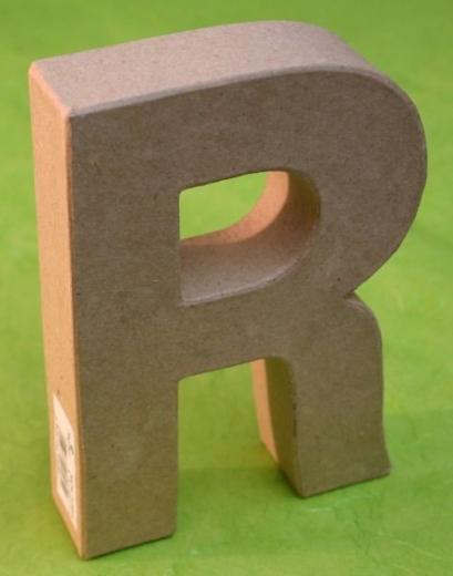 Rayher Pappmaché Buchstabe R - 15cm