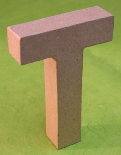 Rayher Pappmaché Buchstabe T - 15cm