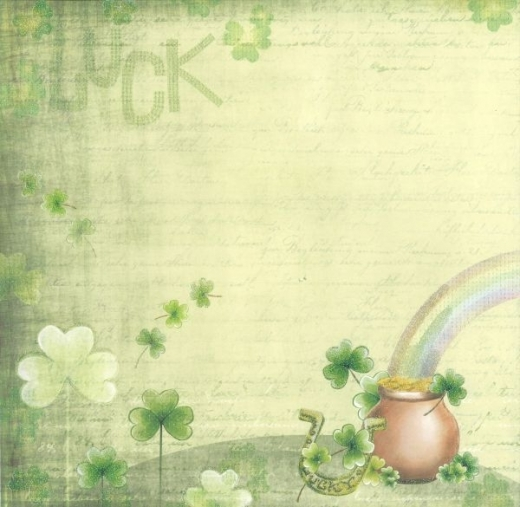 Premium Glitter Scrapbook paper Viel Glück 19