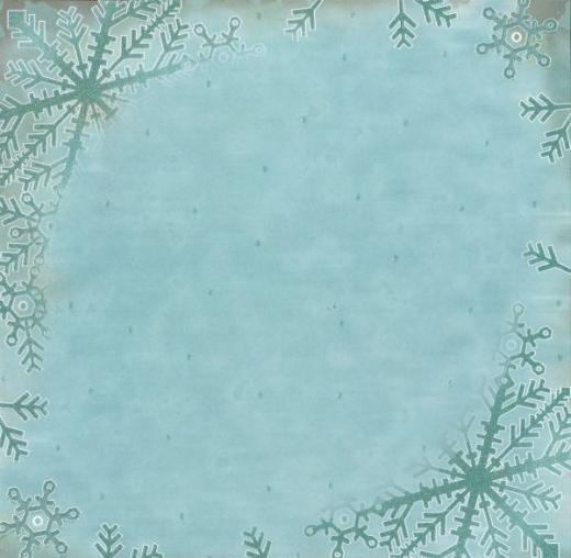 Premium Glitter Scrapbook paper Winter 63