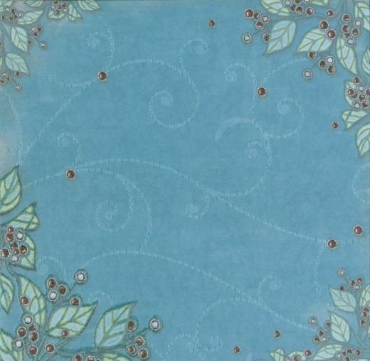 Premium Glitter Scrapbook paper Winter 64
