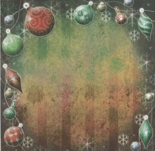 Premium Glitter Scrapbook paper Weihnachten 70