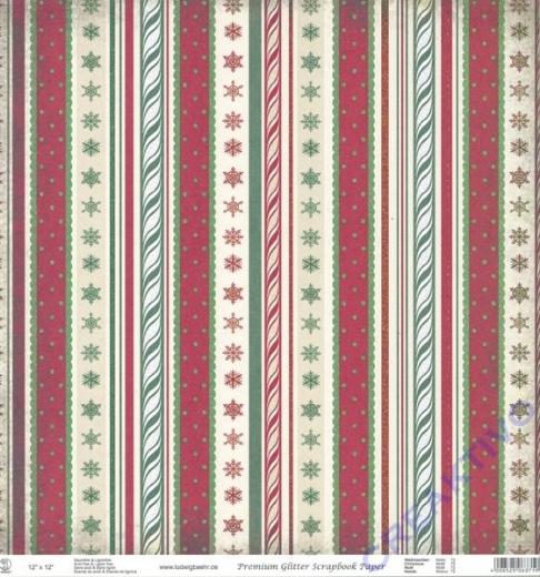 Premium Glitter Scrapbook paper Weihnachten 72