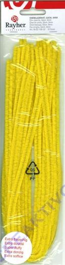 Chenilledraht 50cm 9mm 10 Stück gelb