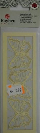 Laserstanzteil 3 Schmetterlinge 1 Bogen 153x50mm elfenbein