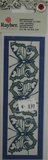 Laserstanzteil 3 Schmetterlinge 1 Bogen 153x50mm royalblau