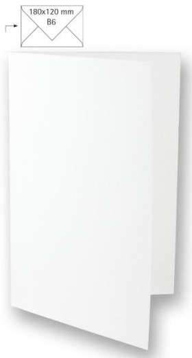 Karte B6 232x168mm 220g weiß