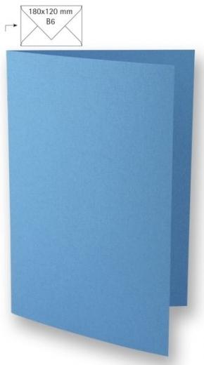 Karte B6 232x168mm 220g azurblau