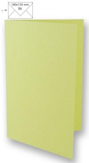 Karte B6 232x168mm 220g pastellgrün