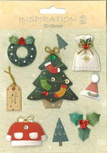 3D-Sticker Weihnachten - Motiv 72