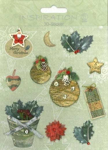 3D-Sticker Weihnachten - Motiv 77