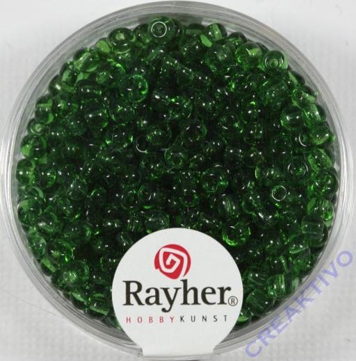 Rocailles 2,6mm ø transparent grün