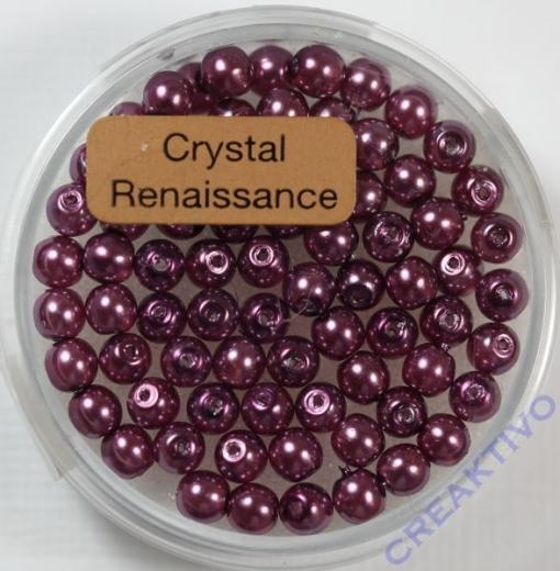 Crystal Renaissance Perlen 4mm hell lila
