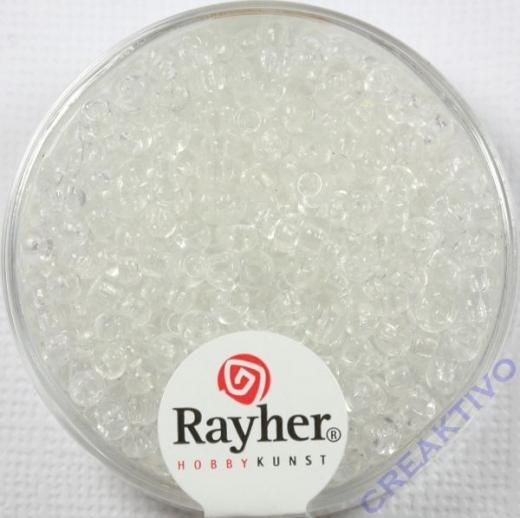 Rocailles 2,6mm ø transparent kristall