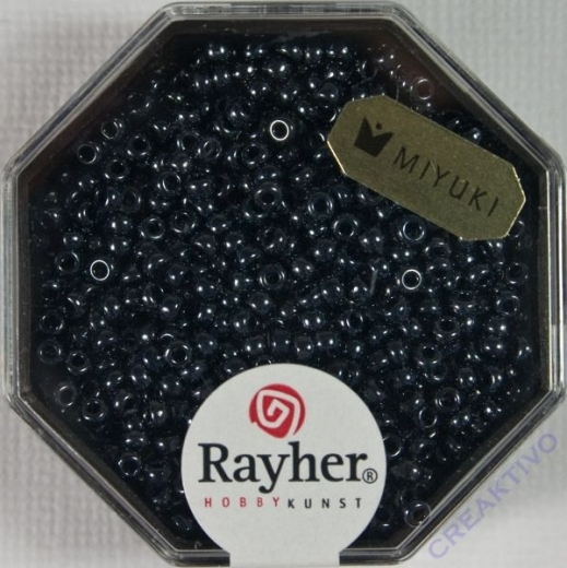 Premium-Rocailles, 2,2 mm ø metallic anthrazit